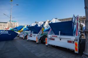 Новые мусоровозы КВБО
